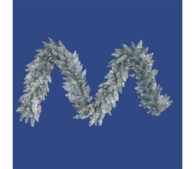 "Holiday Dorm Room Decor Dorm Essentials 9'x14"" Silver Fir Garland with Mini Lights"