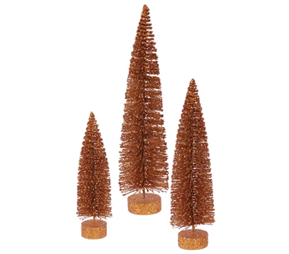 Copper Glitter Oval Tree Set Must Have Dorm Items
