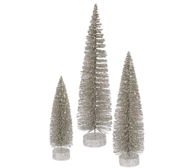 Champagne Glitter Oval Tree Set Must Have Dorm Items
