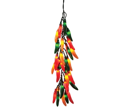 Chili Pepper Bunch Hanging Lights