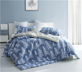Smoke Blue Nights Twin XL Comforter Set Dorm Bedding Must Have Dorm Items