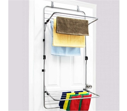 folding steel drying rack over the door. Black Bedroom Furniture Sets. Home Design Ideas