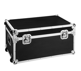VIN Armored Trunks - Rouge Destination (Black) Dorm Room Storage Dorm Trunk with Wheels