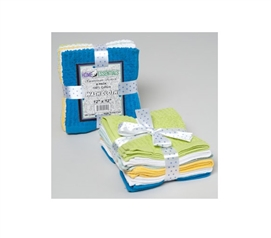 6 Piece 100% Cotton Washcloth Set Dorm Essentials