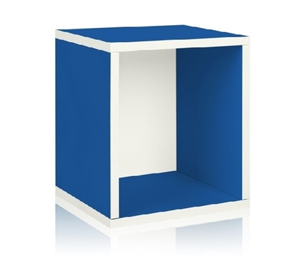 Looks Great In Dorms - Cube Plus Blue - Way Basics Dorm - Great Dorm Storage Supply