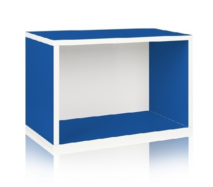 Dorm Room Storage Rectangle Blue - Way Basics Dorm Storage Solutions