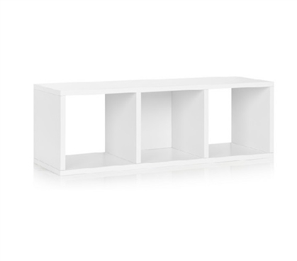 3 Cube Dorm Storage Bench White - Way Basics Dorm Storage Solutions