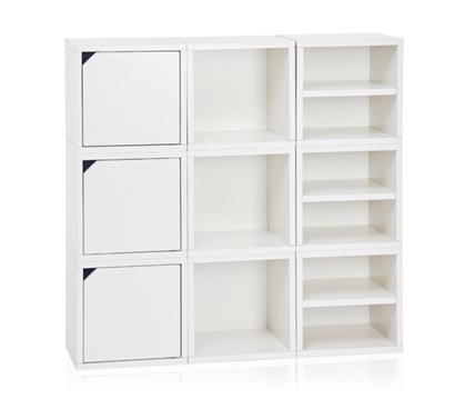 9 cube stackable dorm storage white dorm room supplies dorm room needs college dorm. Black Bedroom Furniture Sets. Home Design Ideas
