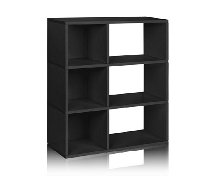 3 Shelf Dorm Room Storage Bookcase Black - Way Basics Dorm Storage Solutions