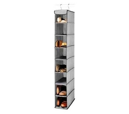 Hanging Shoe Shelves Gray - 8 Shelves