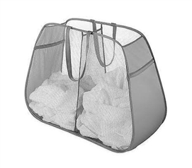 Pop and Fold Double Hamper - Paloma Gray