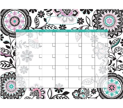 Floral Medley Wall Calendar Dorm Wall Art - Peel N Stick Dorm Essentials
