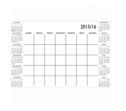 White Academic Calendar Wall Art - Peel N Stick - Cool Stuff for College