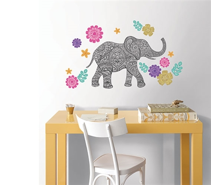 Mehndi Wall Art - Peel N Stick Dorm Room Decorations Dorm Room Decor