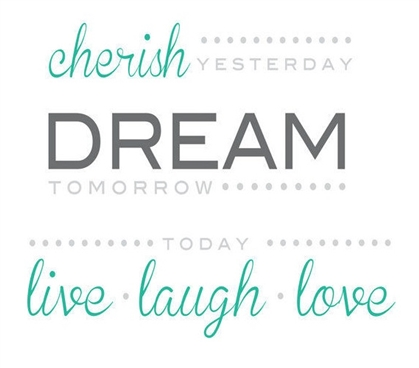 Cheap Dorm Stuff - Cherish Dream Live Quote Wall Art - Peel N Stick - College Wall Decor