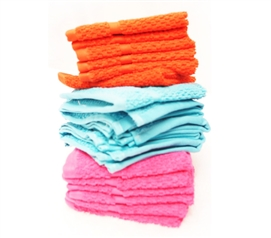 Washcloth Set - Plush Brights Dorm Essentials