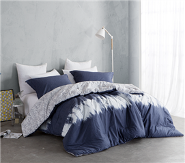 Navy Blur Twin XL Comforter Set Dorm Bedding Must Have Dorm Items