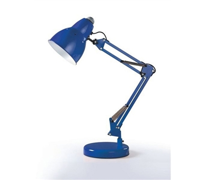 Great For Studying In Your Dorm Room - The Adjusto College Desk Lamp - Blue - Supply For College Students