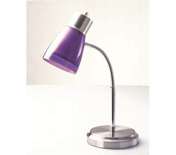 Gooseneck College Desk Lamp Purple