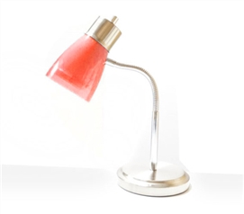 Useful Dorm Supply - Gooseneck College Desk Lamp - Red - Great For Studying In College