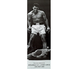 M. Ali v S. Liston Dorm Room Wall Poster Guy's College Decor