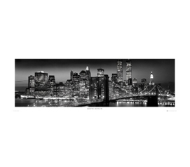 Manhattan Night Time College Dorm Room Wall Poster Decorative Wall Accent