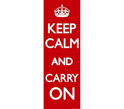 Keep Calm & Carry On Dorm Door Poster Decorative College Accessories