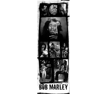 Bob Marley - B & W Collage College Dorm Poster Decor Accessories