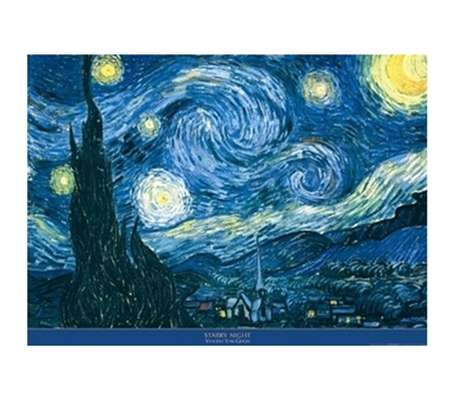 Beautiful College Dorm Essentials - Vincent Van Gogh Starry Night Poster