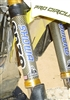 "SUZUKI YELLOW/BLACK CARBON/KEVLAR FORK WRAPS-10"". RM/RMZ 125/250/450"