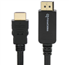 10ft DisplayPort to HDMI Adapter Cable M/M, Black