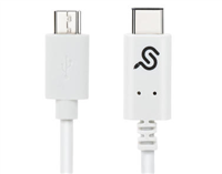 USB-C (Type-C) TO MICRO USB2.0 B Male to Male Cable, 1M - White