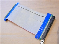 16X To 16X PCI-E Extension Flex Cable PCI Riser Card Adapter