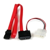 SATA AND SLIM SATA POWER CABLE 7+6 PIN W/POWER ADAPTER