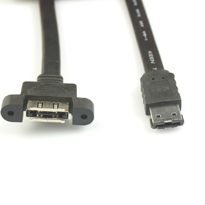 6in ESATA MALE TO ESATA FEMALE BRIDGE CABLE