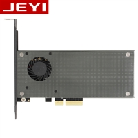 JEYI SK9 Pro m.2 expansion NVMe adapter NGFF turn PCIE3.0 cooling fan SSD dual interface SATA3 with fan Aluminum cover cool bar