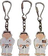 Martial Arts Accessories Keychain Karate Figure With Japanese Flag Patch On Karate Gi