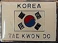 Martial Arts Accessories Pin Korea Flag Taekwondo