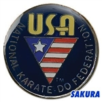 Martial Arts Accessories Pin Karate USANKF Navy