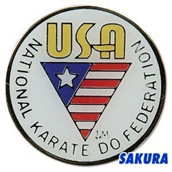 Martial Arts Accessories Pin Karate USANKF White