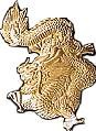 Martial Arts Accessories Pin Gold Dragon
