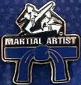 Martial Arts Accessories Pin Rank Belt Blue