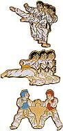 Martial Arts Accessories Pin Side Kick