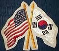 Martial Arts Accessories Patch USA Korea Flags
