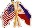 Martial Arts Accessories Patch USA Philippine Flag