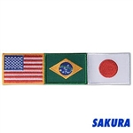 Martial Arts Accessories Patch USA Brazil Japan Flags
