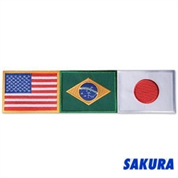 Martial Arts Accessories Patch Brazil Japan USA Flags