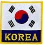 Martial Arts Accessories Patch Korea Flag Korean