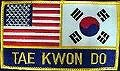 Martial Arts Accessories Patch USA Korea Taekwondo