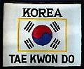 Martial Arts Accessories Patch Korea Flag TKD